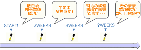 ビタクールでの禁煙の流れ:一例