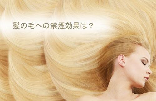 髪の毛への禁煙効果